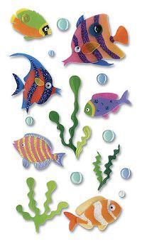 Tropical Fish - Jolee's Vellum 3-D Stickers