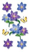 Purple Flowers - Jolee's Vellum 3-D Stickers