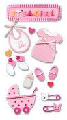 Baby Girl Foam Stickers - Jolee's