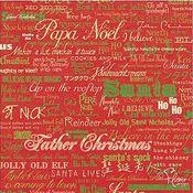 Santa Words 12x12 Paper - Flair