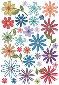 Battery Park Flowers Rub-Ons