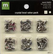 Square Bright Crystal Brads VP by Making Memories