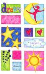Dream Penny Black Stickers