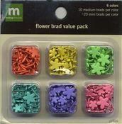 Mixed Med & Mini Flower Brads VP by Making Memories