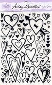 Black Hearts Artsy Doodles