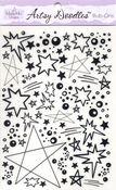 Black Stars Artsy Doodles
