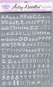 White Letters Artsy Doodles