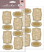 Wedding Reception Gold Stickers