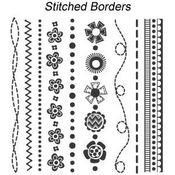 Stitched Borders Clear Stamps