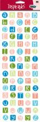 Inspirables Beach Small ABC Stickers