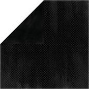 Licorice Double Dot Cardstock - Bo Bunny