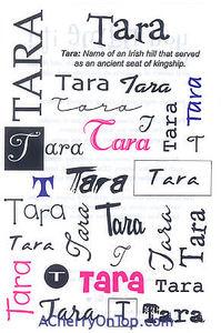 It Takes Two > you name it! Girls > Tara Name Stickers: Stickers Galore