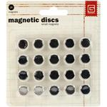 Small Silver Magnetic Disc Snaps