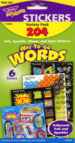Way To Go Words Stickers by Trend