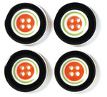 Halloween Striped Buttons by Doodlebug