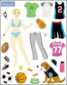 Hannah Dress Up Paper Doll Stickers - Mrs Grossman's