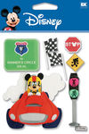 Race Car Mickey Disney Stickers - EK Success