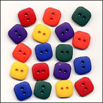 Primary Matte Square Buttons