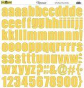 Yellow Alphabet Stickers