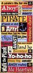 Pirate Words Stickers - Sandylion