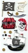 Pirate Lg Stickers - Sandylion