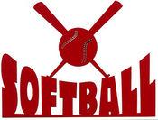 Softball Die Cut