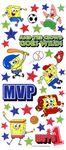 SpongeBob Sports Glitter Stickers