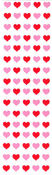 Pink & Red Micro Hearts - Mrs Grossman's Stickers