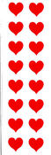 Small Red Hearts - Mrs Grossman's Stickers