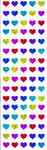 Sparkle Multi Micro Hearts - Mrs Grossman's Stickers