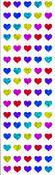 Sparkle Multi Micro Hearts - Mrs Grossman's Stickers