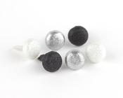 Black & White Shimmer Brads by Making Memories