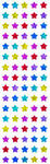 Sparkle Multi Micro Star - Mrs Grossman's Stickers