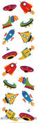 Chubby Rocket Ships - Mrs Grossman's Stickers