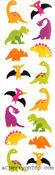 Chubby Dinosaurs - Mrs Grossman's Stickers