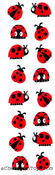 Chubby Ladybugs - Mrs Grossman's Stickers