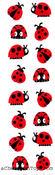 Chubby Ladybugs - Mrs Grossman's Stickers
