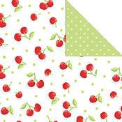 Sweet Cherries 12x12 Paper - Creative Imaginations