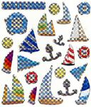 Sailboats Prismatic Stickers