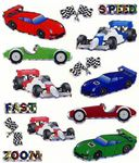 Race Cars Prismatic Stickers