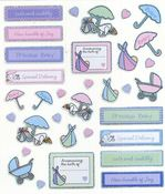 Special Delivery Baby Sparkle Stickers