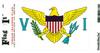 Virgin Islands Flag Vinyl Flag Decal