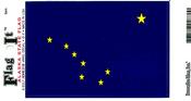 Alaska State Flag Vinyl Flag Decal