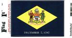 Delaware State Flag Vinyl Flag Decal