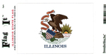 Illinois State Flag Vinyl Flag Decal
