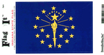 Indiana State Flag Vinyl Flag Decal