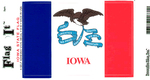 Iowa State Flag Vinyl Flag Decal