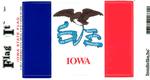 Iowa State Flag Vinyl Flag Decal