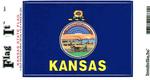 Kansas State Flag Vinyl Flag Decal