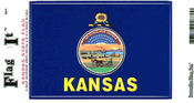 Kansas State Flag Vinyl Flag Decal